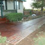 Concrete after staining and sealing